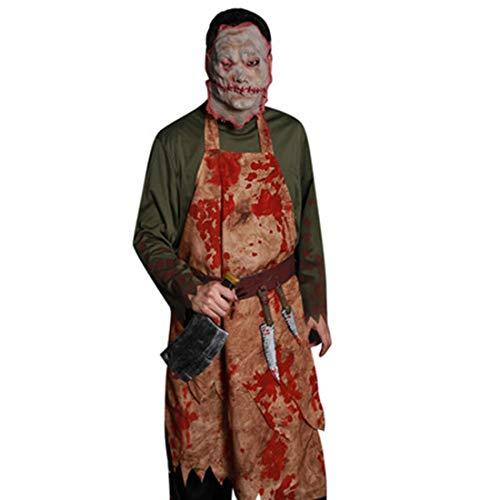 LLY Halloween Geist Festival Bar Party Show Blutige Chef Erwachsene Herrenbekleidung