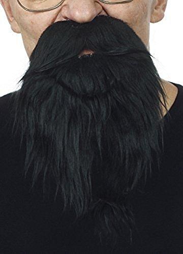 Schwarzweißer Philosophen Bart (Behaarte Mann Kostüm)