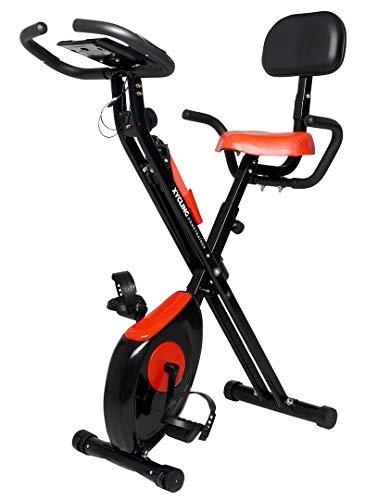 Miweba Sports Indoor Xycling X-Bike Fitnessbike - 3 Kg Schwungmasse - Pulsmessung - 8 Widerstandsstufen - App Funktion (Schwarz Rot)