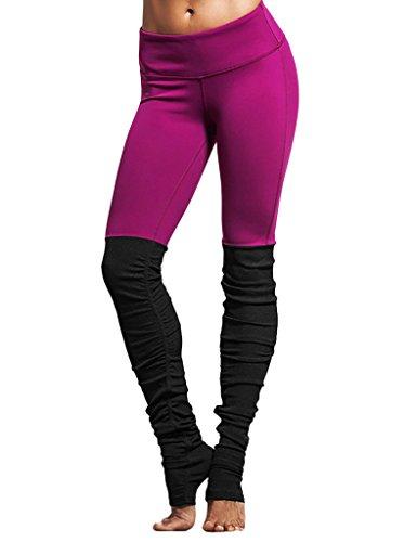 JIMMY DESIGN Damen Yoga Hosen Yoga Pants Stretch Hose Violett - L