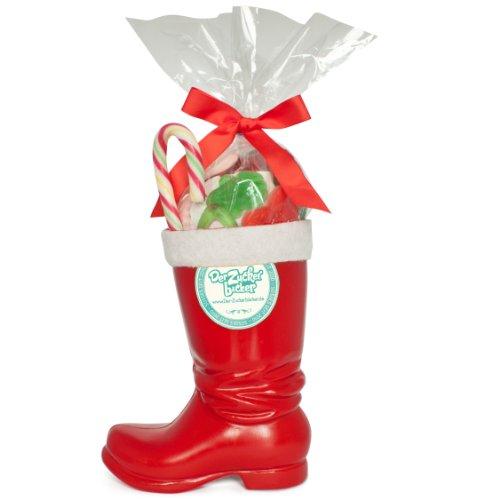 Santa Schmaus - süßer Nikolaus Stiefel, 300g mit bestem Süßigkeiten-Mix, tolles Nikolaus Geschenk