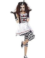 Halloween Party Maedchen Kostuem Harlekin Hofnarr Theater Horror Damen Zombie Horror Hexe Vampir Geist