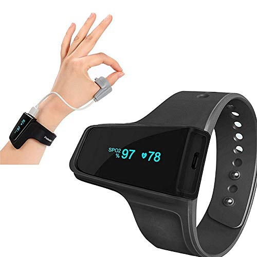 ZDHF Handgelenk-Pulsoximeter Finger Blutsauerstoffsättigungs-Messgerät für den Heimgebrauch Tragbares, professionelles Pulsfrequenz-Atemfrequenz-Blutperfusionsindex (PI)