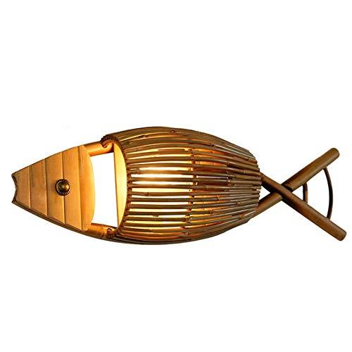 Yaione Bambú, Ligero, Minimalista, decoración, lámpara de Pared, Aplique de Pared, Madera...