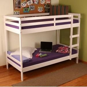 Altimus Pine Bunk Bed 90 x 190 cm High-Gloss White