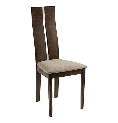 Julian Bowen Cayman Dining Chair - Walnut Finish, Set of 2