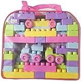 Pick & Pick Kid's Plastic Blocks Set (PNP/21, Multicolour) - 56 Pieces