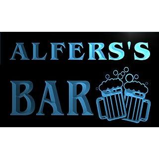w111124-b ALFERS Name Home Bar Pub Beer Mugs Cheers Neon Light Sign