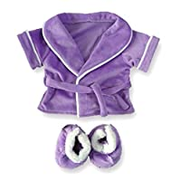 Build Your Bears Wardrobe Teddy Bear Clothes fits Build a Bear Teddies Robe and Slippers (purple)