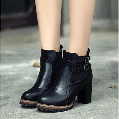 Bottes pour femmes Printemps Été Automne Hiver Chaussures Club de plein air en cas de carrière &bureauBalades Boucle Talon ual Brown