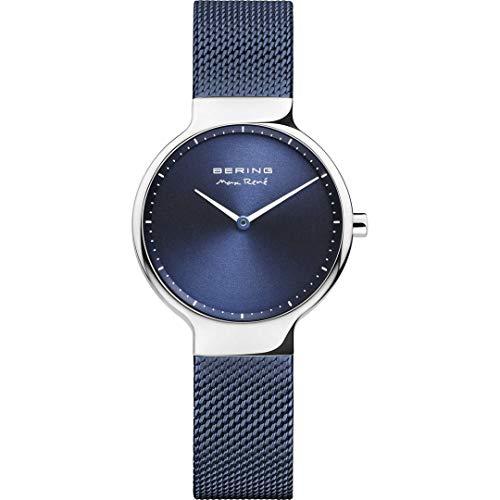 BERING Damen Analog Quarz Uhr mit Edelstahl Armband 15531-307