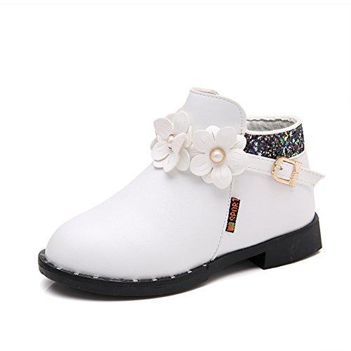 LOSORN ZPY Herbst Schuhe Boots Für Süß Mädchen Trendy Stiefel Mit (Cowgirl Rosa Kinder Stiefel)