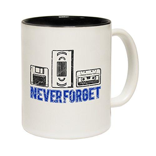 Never Forget VHS, Cassette, Floppy Disk Mug, Gift Boxed