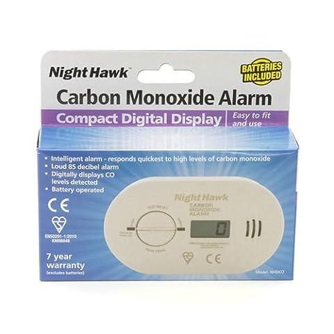 Kidde night hawk 0230/5DCO NHDCO Battery Premium Range Carbon Monoxide Alarm with Digital Display