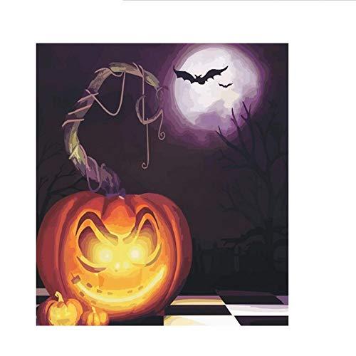 Waofe Unframed Halloween Theme Diy Malen Nach Zahlen Acrylfarbe Auf Leinwand Moderne Wandkunst Bild Für Wohnkultur 40X50