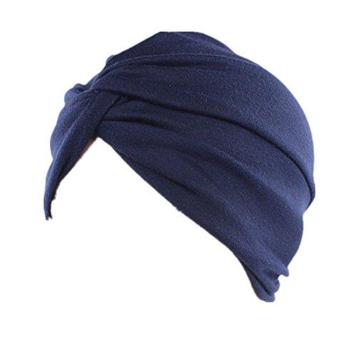 RLChicLog Sombrero del Turbante del algodón del Color Puro de la Moda de Las...