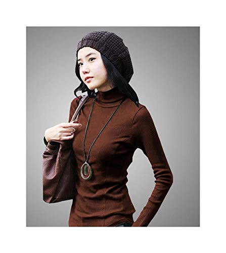 Women Autumn Winter Slim Lady Plus Size Full Sleeve Turtleneck Shirt Female Knitted Hedging Stretch Warm Pullover Sweater 12 XL - Ribbed Knit Striped Sweater