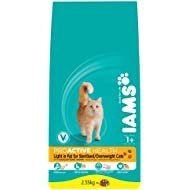Iams Dry Cat Food Adult Light Chicken 2.55 Kg (Pack of 3)