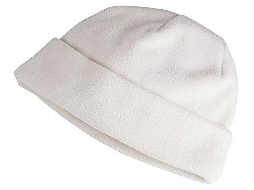 cappello cappellino invernale cuffia pile taglia unica 6189 Bianco mis 46 - 50