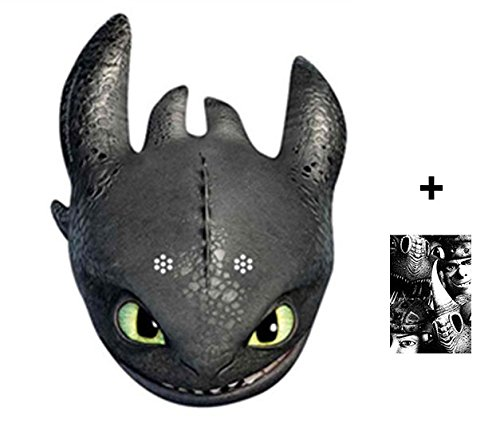 Toothless - How To Train Your Dragon 2 Karte Partei Gesichtsmasken (Maske) - Enthält 6X4 (15X10Cm) - Hick Party Kostüm