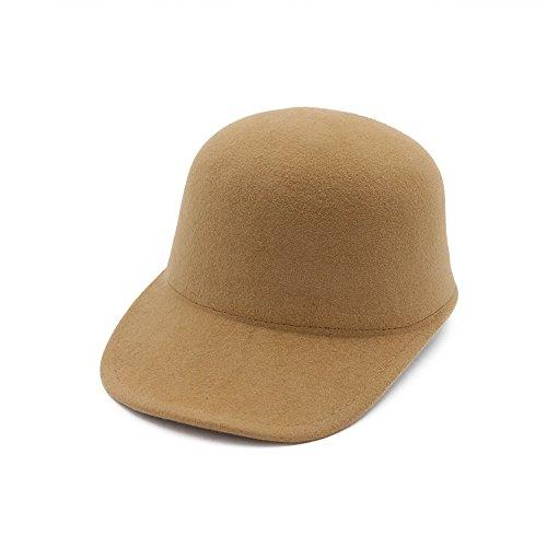 Damen Hüte Fedora Trilby Filzhut Winter Hut Eleganter Hut Herbst Winter Damen Mütze Wolle Cap Schwarz für Mädchen (Camel)