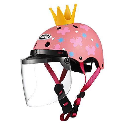 SRUN Kinderhelm Kinder Balance/Elektroauto Roller Fahrrad Roller Skating Helm Kleinkind Airiness ECE geprüfter Helm für 3-12 jährige Mädchen, 52-57cm,2
