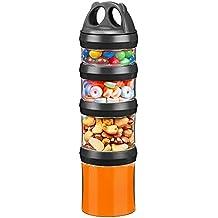 Besthouse Contenedor de Suplementos Alimenticios con Asa, Recipientes Comida, Hermeticos contenedor alimentos Para Guardar