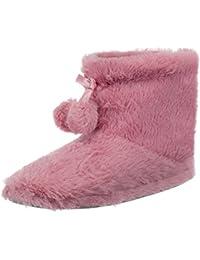 79bcca3b548 Brand sseller Mujer Zapatillas cabaña Botas flojel Forrado con pompón y  Suela Antideslizante