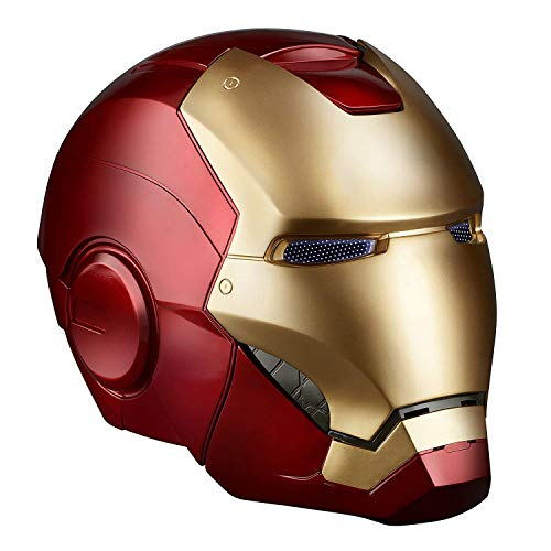 QWEASZER Rächer: Endgame Iron Man Maske Helm Marvel Iron Man Elektronischer Helm COS Halloween Helm Props 1: 1 Rüstung tragbarer Helm,Iron Man MK42-0~60cm (Iron Man Halloween)