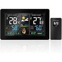 GBlife PT3378, Stazione meteorologica Wifi con sensore interno/esterno, per le Previsioni del Tempo per Casa, Ufficio con porta USB