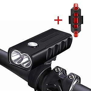 410uAknuvlL. SS300 YEHOLDING Luci Bici, Luce Anteriore per Bici e Fanali Posteriori con Connettore USB, Facile da Installare per La Torcia…