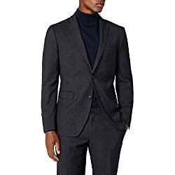 ESPRIT Collection Premium 037EO2G020, Chaqueta de Traje para Hombre, Negro (Black), 54