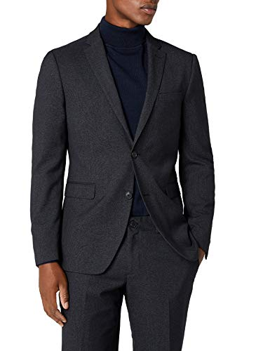 ESPRIT Collection Premium, Chaqueta de Traje para Hombre, Negro (Black)
