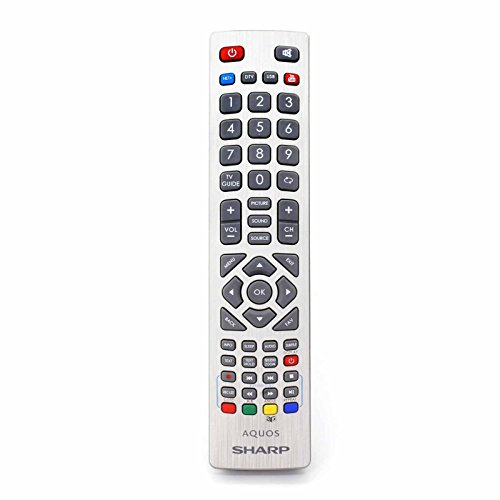 Aquos Lcd (Fernbedienung für Sharp Aquos SHW/RMC/0003 Full HD Smart LED TV'S - Mit Zwei 121AV AAA Batterien enthalten)