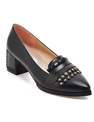 WSS 2016 Chaussures Femme-Bureau & Travail / Décontracté-Noir / Rouge / Beige-Gros Talon-Talons / Bout Pointu-Chaussures à Talons-Polyuréthane beige-us6 / eu36 / uk4 / cn36