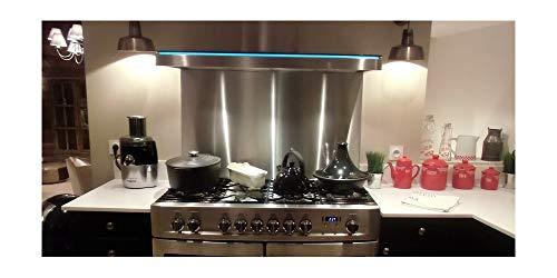 Credence Inox - Fond de cuisson - L 60 x H 70 ( épaisseur 11 mm) - Inox brossé