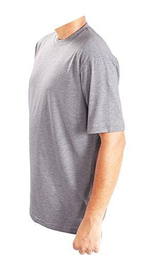 Generic -  T-shirt - Tunica - Basic - Collo a U  - Uomo Grey
