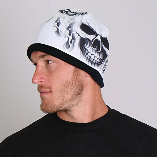 ghost-skull-soft-cotton-with-bright-sublimated-design-snug-fit-beanie-black