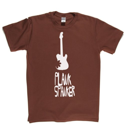 Plank Spanker Guitar Guitarist Tee Music Slang Quote Funny Tee T-shirt Braun