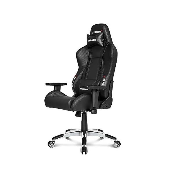 AKRacing Gaming Chair AK Racing Silla de Juego, Piel sintética de Poliuretano, Master Premium Carbon/Negro