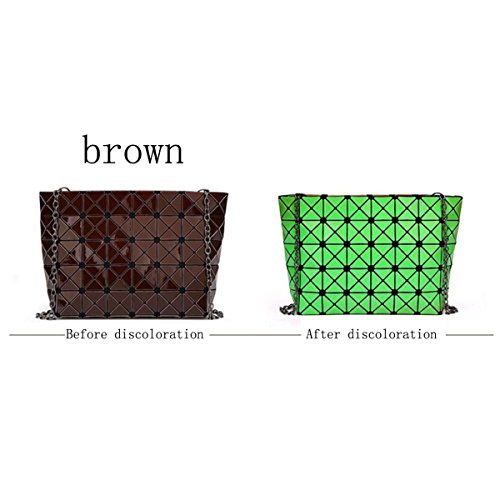 Rhombus Piegatura Cucitura Signore Borsa A Tracolla Piazza La Borsa Il Cubo Il Cambiamento Di Temperatura 5 * 8 Pacchetto Geometrica Casuale La Personalità La Moda Brown