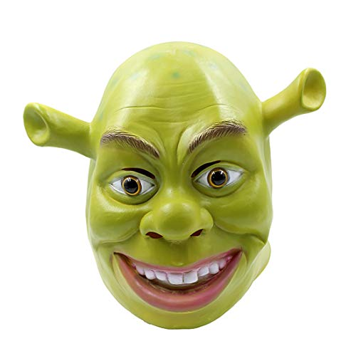 Halloween Shrek Kopf Maske Schule Farbe Spielen Erwachsene Latex Maske Maskerade Film Thema Grün,01,L