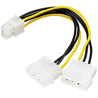 adaptare Power Supply Adapter Cable 15-Pin SATA Connector to 4 Pin IDE and 4 Pin yellow 2-x 5,25