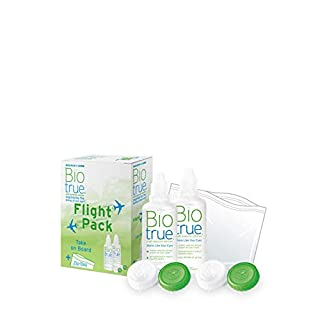 Biotrue Pflegemittel für weiche Kontaktlinsen Flight Pack, (2 x 60 ml)