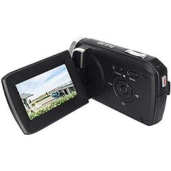 """GDV5250 Caméra vidéo numérique 1080P Full HD Caméscope DV avec Batterie Rechargeable / 2,7"""" TFT LCD / 270 degrés de Rotation Caméra pour Enfants/débutants/Personnes âgées Cadeau de Noël"""