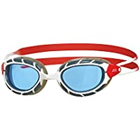 Zoggs Gafas de natación, Adultos Unisex, Blanco/Rojo/Tinte, una una talla