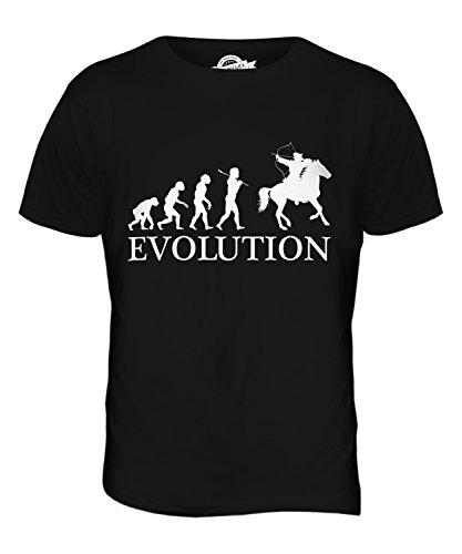 CandyMix Berittenes Bogenschießen Evolution Des Menschen Herren T Shirt Schwarz