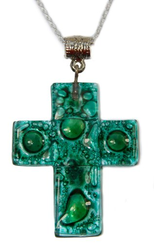 handmade-colourful-glass-pendant-in-the-shape-of-a-christian-cross-silver-chain-fair-trade-from-ecua