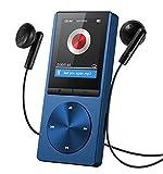 OMORC 130AD - Lettore MP3 Player Portatile con Fascia Sportiva MP3 Runing 8GB Radio FM Registrazione 24 Lingue Materiale Lega di Alluminio. Blu
