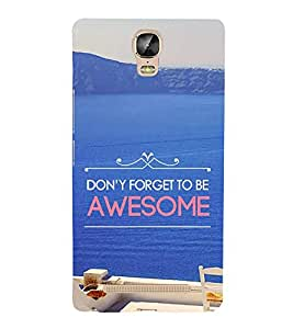 Life Quote 3D Hard Polycarbonate Designer Back Case Cover for Gionee Marathon M5 Plus